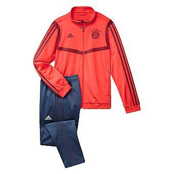 2019-2020 Bayern München Adidas PES Tracksuit (rød)-børn