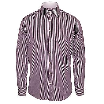 Hackett Classic Wide Stripe shirt, roxo