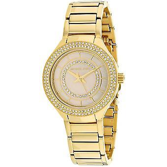 Michael Kors Mini Kerry stonowane złoto stal nierdzewna damski zegarek MK3801