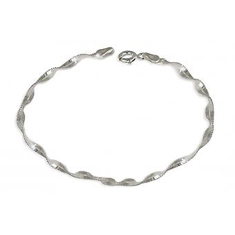 Silver Necklace Mesh Twist 45cm