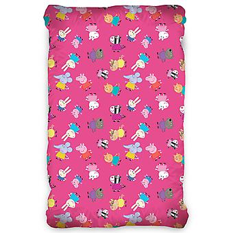 Peppa Pig Rosa Single Fitted Cotton Sheet