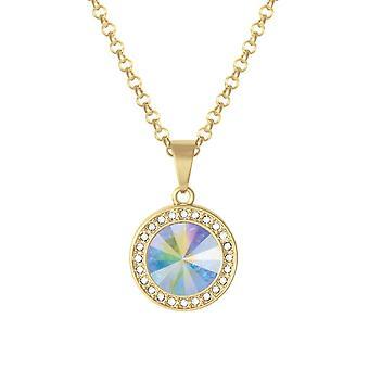 Eeuwige collectie Viva Aurora Borealis Oostenrijkse Crystal Gold Tone hanger