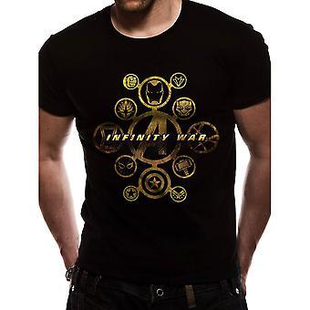 Men's Marvel Avengers Infinity War Character Logos T-Shirt