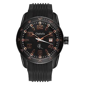 ORPHELIA Mens analoog horloge smid zwart Rubber 132-6704-44