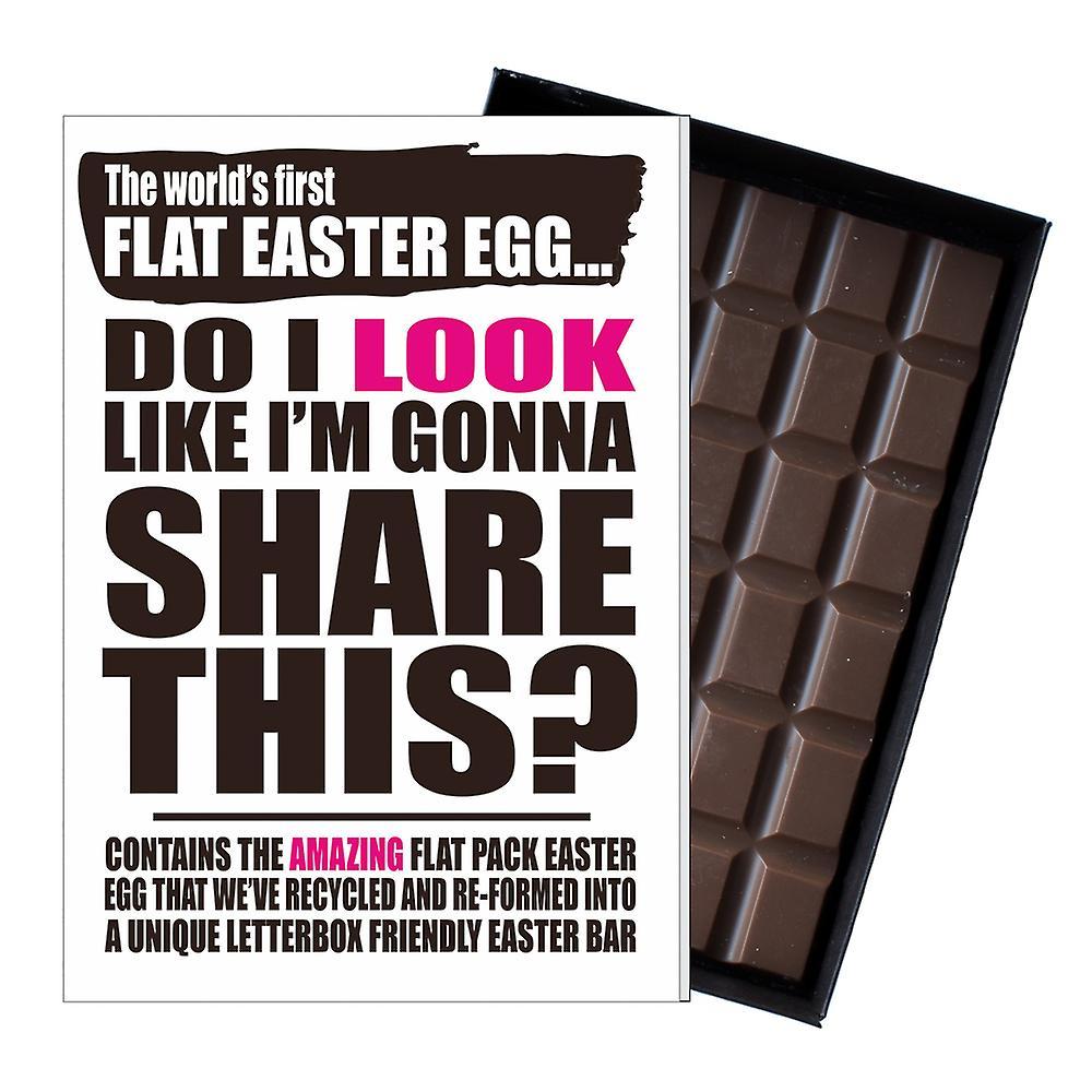 Funny Flat Easter Egg Chocolate Bar Greeting Card Gift Men Women Friend UK EIYF148
