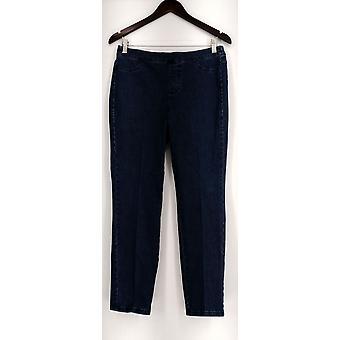 Isaac Mizrahi Live jeans 6P denim rett legged blå A297722
