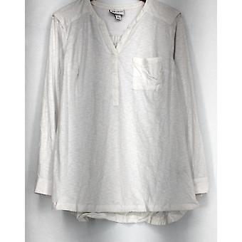 Ava & Viv Plus Top Patch Pockets Solid White New