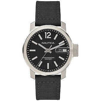 Nautica syd gent's Japanese Quartz Analog Man Watch with NAPSYD002 Cowskin Bracelet