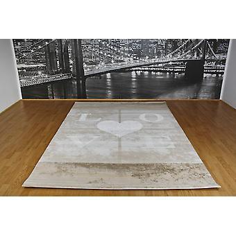 Pierre Cardin design matta i akryl Grädde/Brun