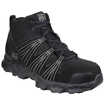 Timberland Pro Mens Powertrain Mid Black Lace up Safety Boot