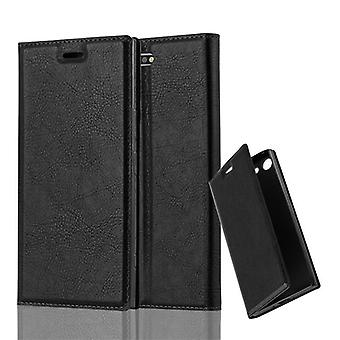 Cadorabo Hülle für Sony Xperia XZ PREMIUM Case Cover - Handyhülle mit Magnetverschluss, Standfunktion und Kartenfach – Case Cover Schutzhülle Etui Tasche Book Klapp Style