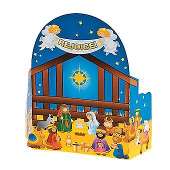 12 Christian Nativity Advent kalenderen klistremerke scener - Kids Christmas Crafts