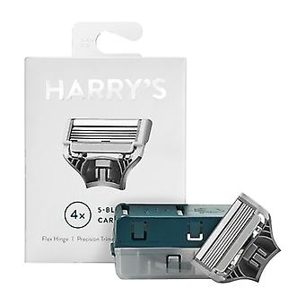 Harry's Men's Razor Blade Cartridges Refills - 4ct