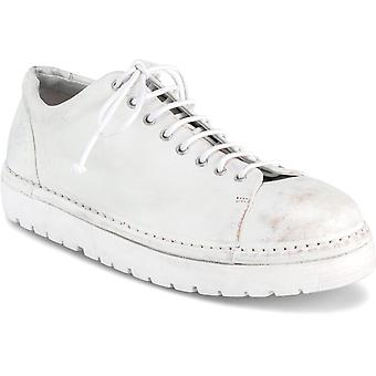 Marsèll Women's fashion round toe lace-ups shoes in off-white leather