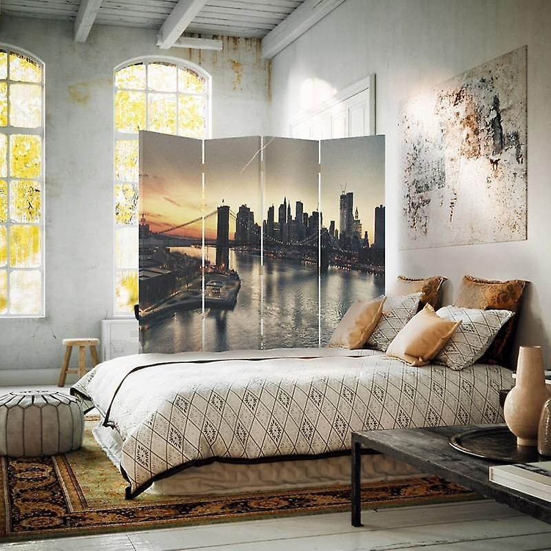 Room Divider, 4 Panneaux, Toile, Brooklyn Bridge à New York