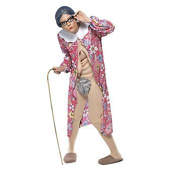 Mens gravità Granny Fancy Dress Costume