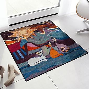 Rosina Wachtmeister doormat lifestyle Le onde 85 x 85 cm SLD0898-085 x 085