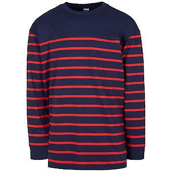 Urban Classics Herren Langarmshirt Color Block Stripe Boxy