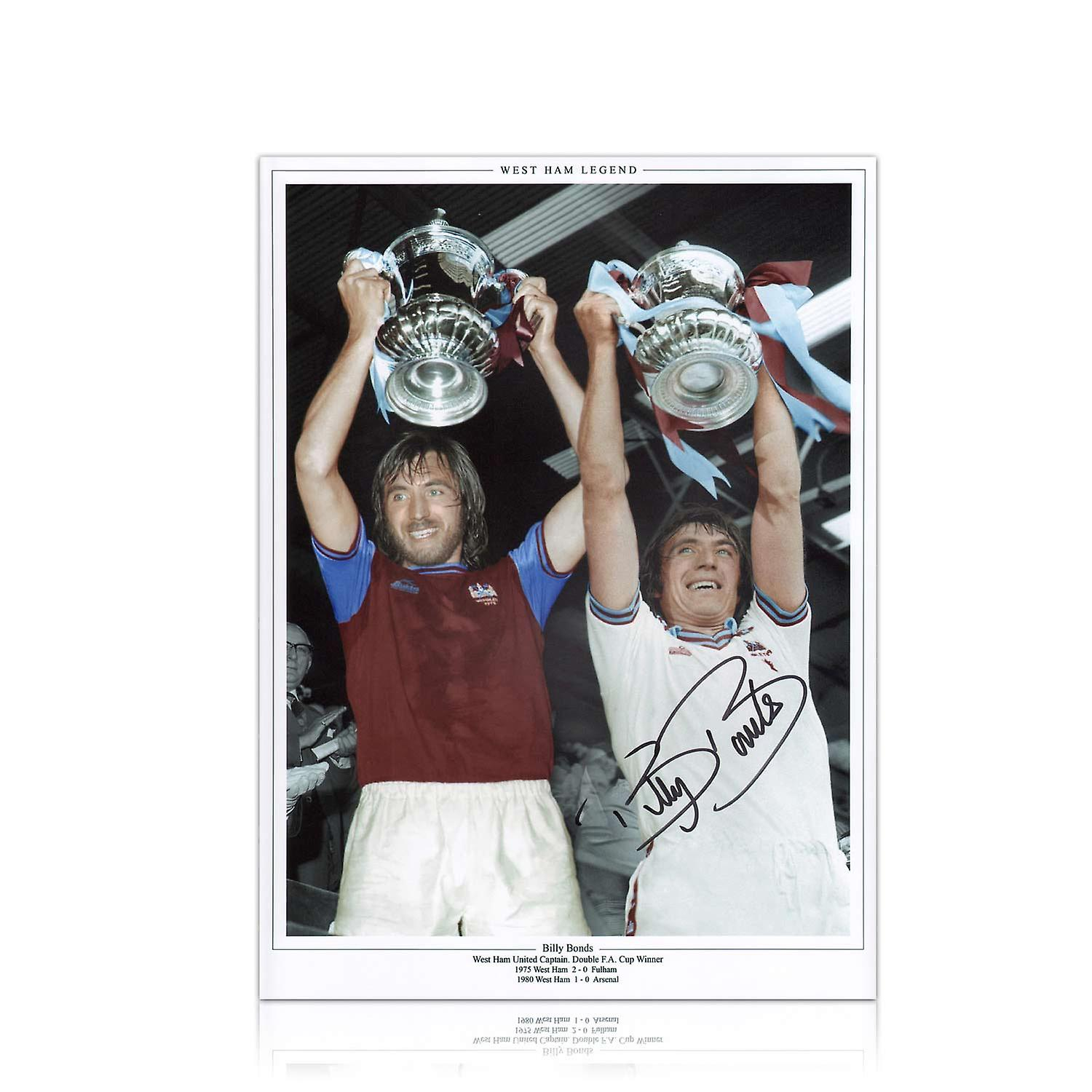 Billy Bonds Signed West Ham United Photograph In Gift Box