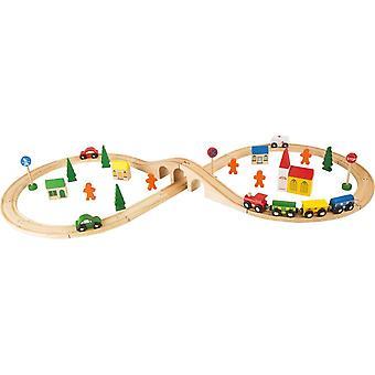 Kleine voet grote houten Railway set 46 stuks