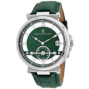 Christian Van Sant Men's Clepsydra Green Dial Watch - CV1701