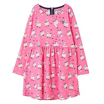 Lighthouse Ellie Girls Dress Llama Print