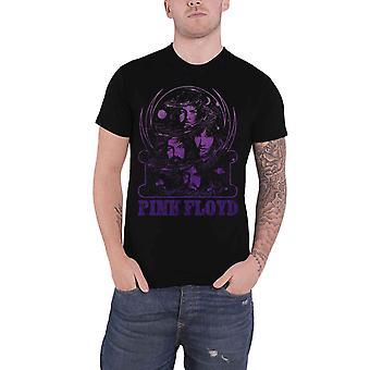 Pink Floyd T Shirt Purple Swirl Band Logo retro vintage new Official Mens Black