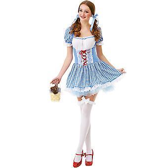 Kansas Belle voksen kostume, S