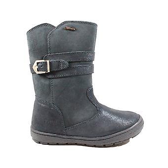Primigi Sara 24369 Navy Suede Leather Girls Long Leg Boots