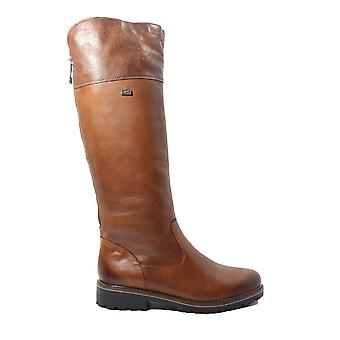 Remonte Hazel R6581-22 Brown Leather Womens Long Leg Boots