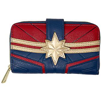 Captain Marvel Costume Faux Portefeuille en cuir