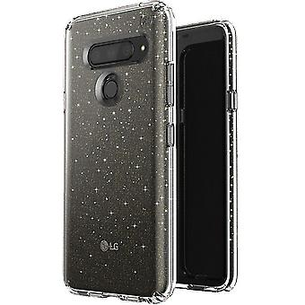 Speck Presidio Clear Glitter Case for LG V40 ThinQ - Clear/Gold