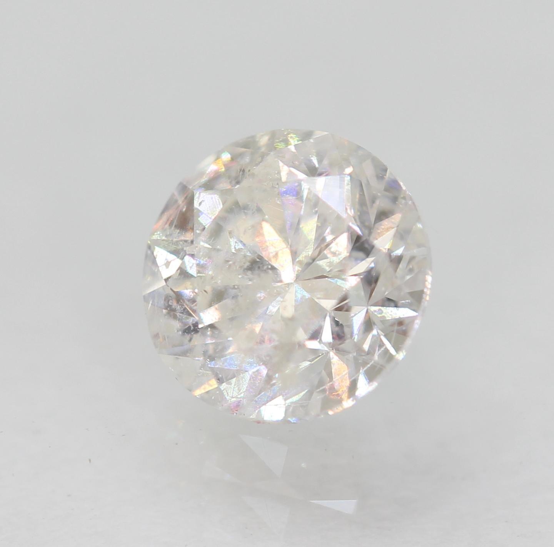 Certified 0.50 Carat D SI2 Round Brilliant Enhanced Natural Diamond 4.97m EX CUT