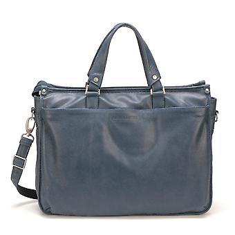 Handtasche Tasche Soufflets G/blau - Arthur und Aston - Leder - Männer