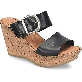 B.O.C Womens Emmy Band Leather Open Toe Casual Platform Sandals