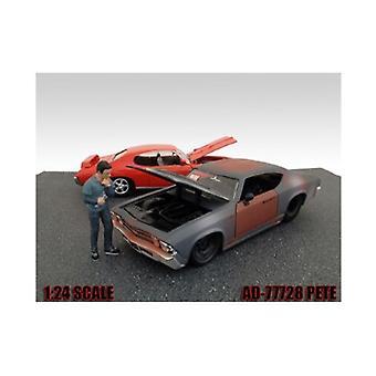 Mechaniker Pete Figur für 1:24 Diecast Modellautos von American Diorama