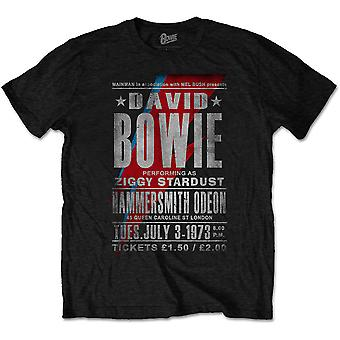 David Bowie Live at the Hammersmith Odeon Official T-Shirt