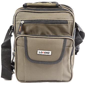 Handy Canvas Style Mutli-Functional Shoulder / Messenger Flight Work Travel Bag ( Black )