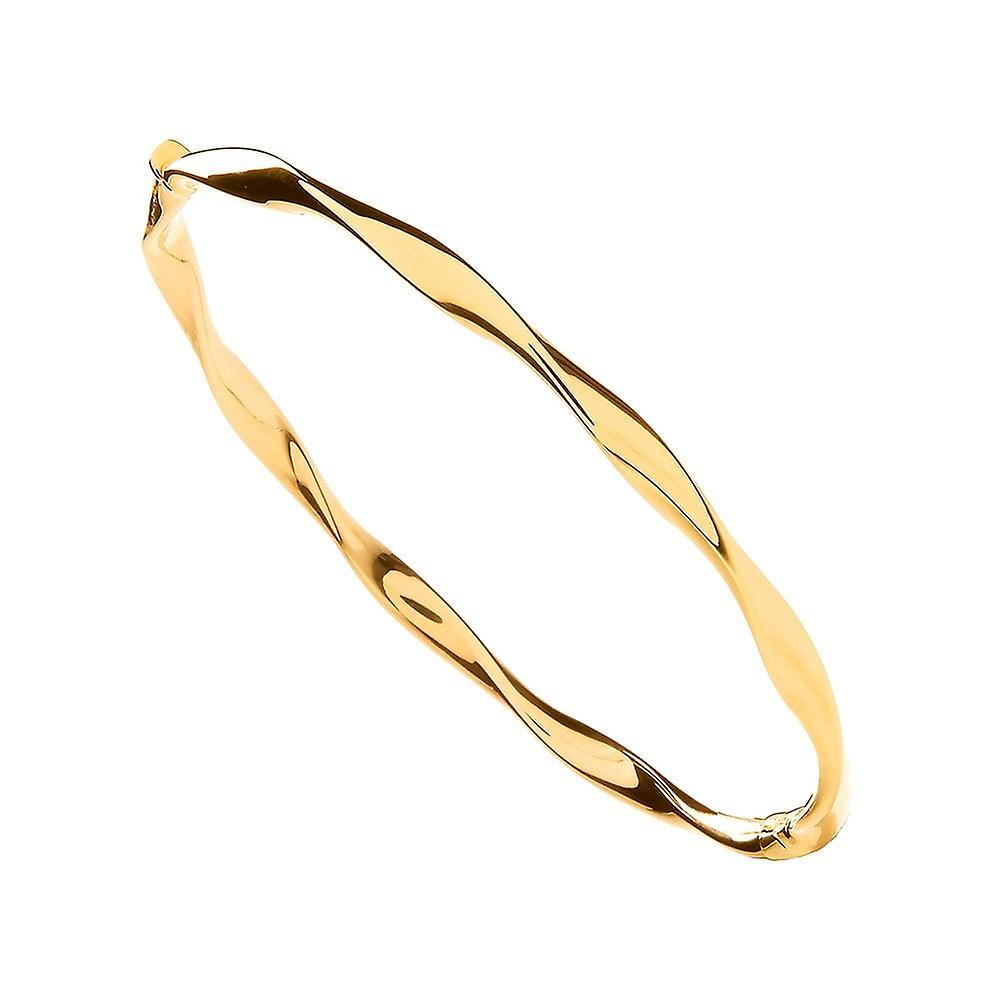 Eternity 9ct Yellow Gold Polished Twist Bangle