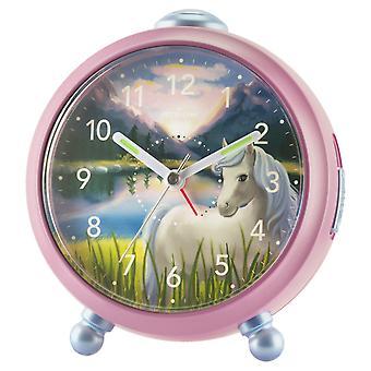 ATRIUM Kinder alarm klok wekker analoge Quartz paard meisje A932-17 Siabelle