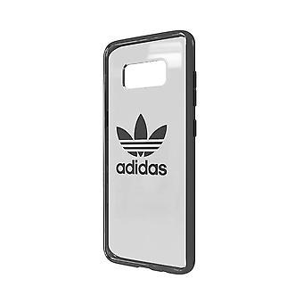 adidas Originals Transparent Cover Case for Samsung Galaxy S8 - Gunmetal Logo