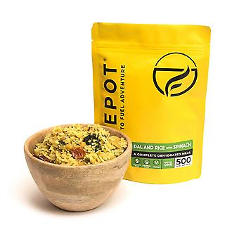 Firepot Dal und Reis mit Spinat Dehydrated Camping Food 135g