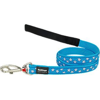 Red Dingo Style Star White/Turquoise Leash (Dogs , Collars, Leads and Harnesses , Leads)