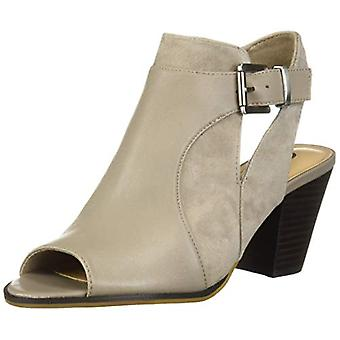 Bella Vita Women's Kellan Block Heel Sandal Shoe, Stone Leather/Suede Leather...