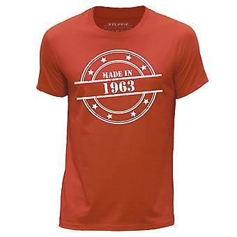 STUFF4 Men's Round Neck T-Shirt/Made In 1963/Orange