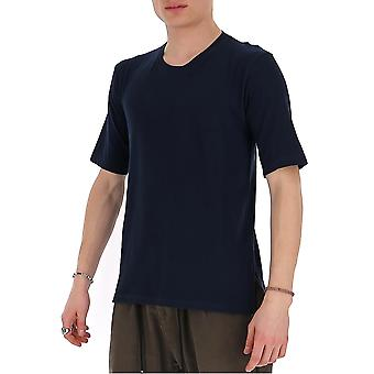 Laneus 90624cc7blu Men's Blue Cotton T-shirt