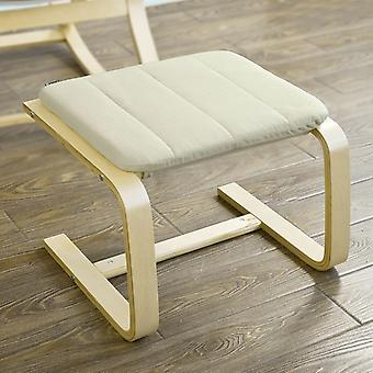 SoBuy Bentwood Footstool Footrest with Cushion, Foot Leg Rest,FST38-W