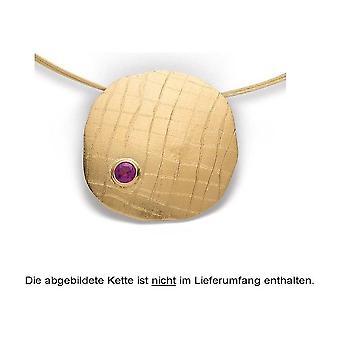 Bastian Inverun.Silver pendant gold plated matte/brushed Rhodolite 0.35ct 24320