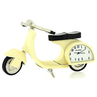 The Emporium Miniature Scooter Novelty Cream Tone Classic Vespa - Collectors Clock 9088