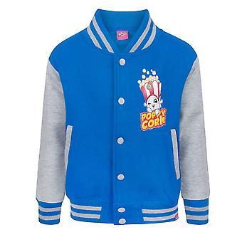 Shopkins Poppy Corn Girl's Blue Varsity Jacket